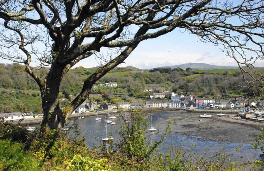Fishguard's picturesque 'Marine Walk'. Fishguard Lower Town Harbour is just a stroll down the lane and round the headland you can join the Pembrokeshire Coastal Path