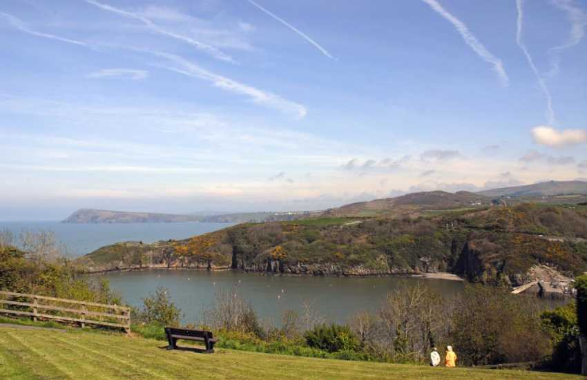 Views over Fishguard Lower Town Harbour