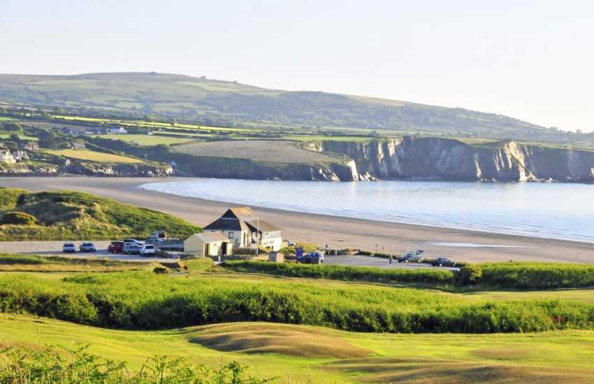 Newport Golf Club is a challenging 18 hole links course with panoramic views across the bay