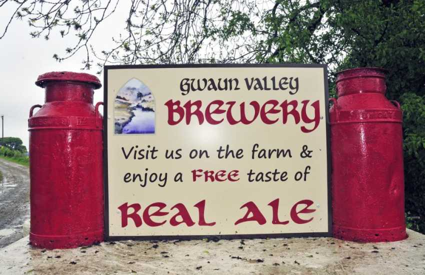 Watch the Gwaun Valley Brewers at work, smell the malted barley and enjoy a free taste of real ale on sale at The Gwaun Valley Brewery