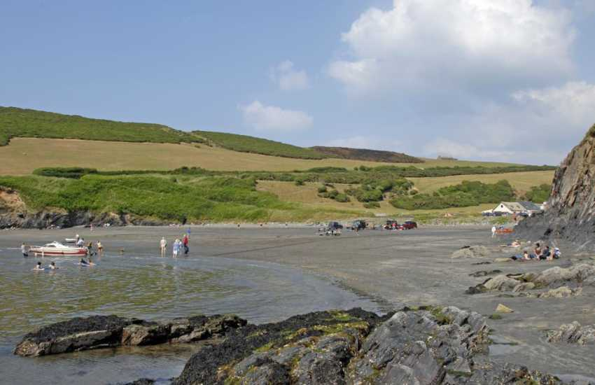Pwll Gwaelod is another delightful cove near Dinas Head on the North Pembrokeshire coastline. A good location not just for the beach, It boasts The Old Sailors restaurant on the beach side serving seafood and good local produce