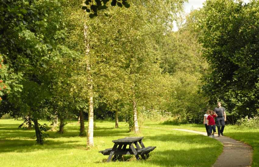 Enjoy the riverside walk which wends its way around the ruins nearby