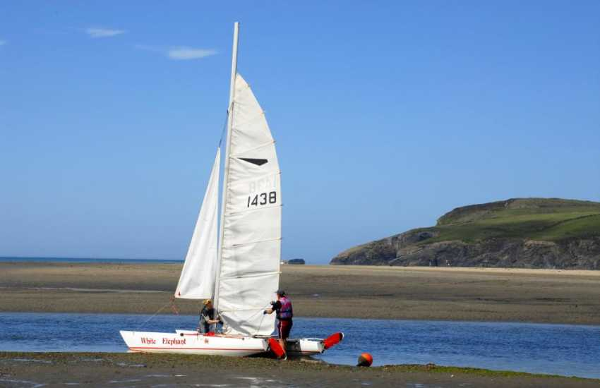 A wide variety of watersports are available at Newport Sailing Club (open to non-residents) down on the shores of The Parrog Beach