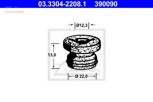 Фото запчасти Прокладка главного тормозного цилиндра 03.3304-2208.1