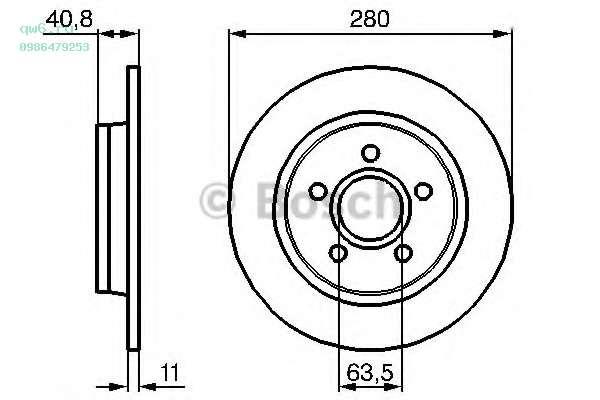 Фото запчасти Тормозной диск задний