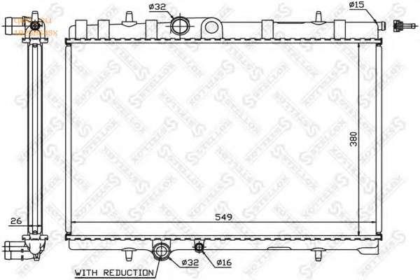 Фото запчасти 10-25064-SX радиатор системы охлаждения Citroen Xsara, Peugeot 307 1.6/2.0 16V 00