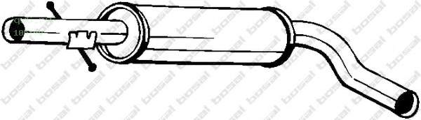 Фото запчасти Глушитель средняя часть AUDI A3 09/96-06/03 V1.6, 105-109