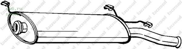 Фото запчасти Глушитель задняя часть CITROEN XSARA 00-04, 135-005