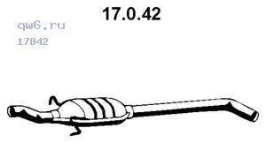 Фото запчасти Резонатор MEGANE I 1.4i 17.0.42