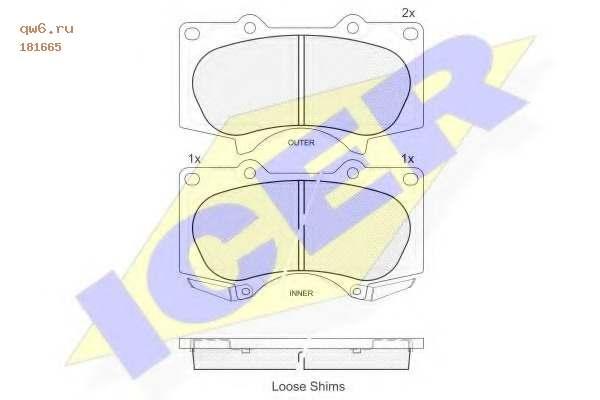 Фото запчасти Комплект тормозных колодок, дисковый тормоз