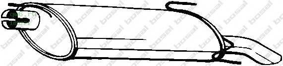 Фото запчасти Глушитель задняя часть OPEL ASTRA F 96-98, 185-221
