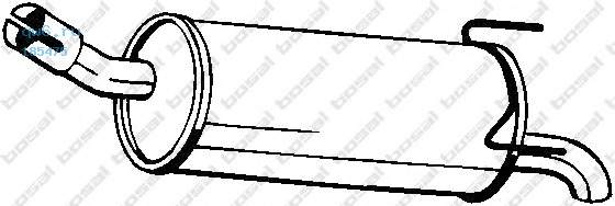 Фото запчасти Глушитель задняя часть OPEL ASTRA H 04-, 185-475