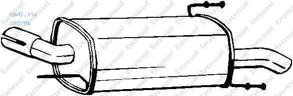 Фото запчасти Глушитель задняя часть OPEL CORSA C 00-, 185-701