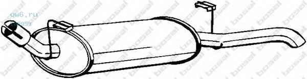 Фото запчасти Глушитель задняя часть OPEL ASCONA_C 81-89 V1.3,1.6,1.6i,1.8,2.0i, 185-953