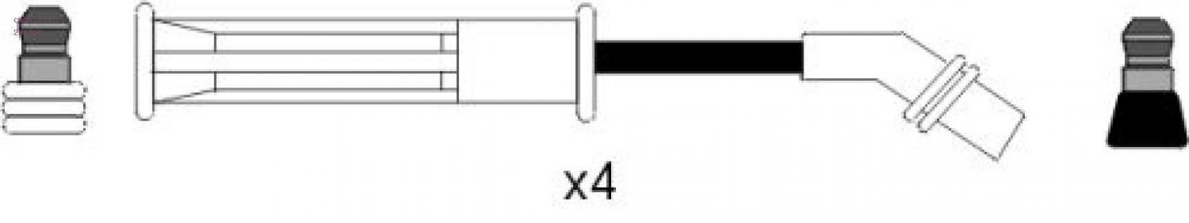 Фото запчасти Комплект высоковольтных проводов
