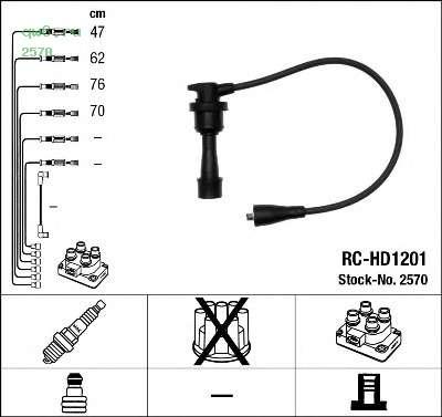 Фото запчасти Провода зажигания к-т RC-HD1201