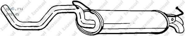 Фото запчасти Глушитель задняя часть VW/AUDI/SEAT GOLF_IV/BEETLE/A3/LEON 96-03 V1.6-,
