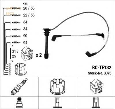 Фото запчасти Провода зажигания к-т RC-TE132