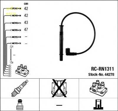 Фото запчасти Провода зажигания к-т RC-RN1311