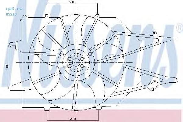 Фото запчасти Вентилятор двигателя FORD FOCUS I MT -AC