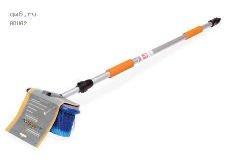 Фото запчасти Швабра с насадкой для шланга, щеткой 20см и телескопической ручкой 150см AB-H-02