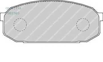 Фото запчасти Колодки тормозные дисковые Mazda