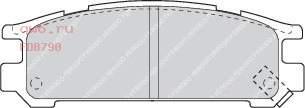 Фото запчасти Колодки тормозные дисковые Subaru