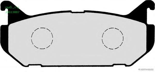 Фото запчасти Колодки тормозные задние Mazda 626 IV