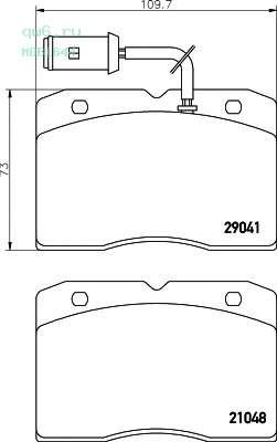 Комплект тормозных колодок, дисковый тормоз MDB1644 MINTEX