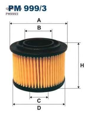 Фото запчасти Фильтр топливный PM999/3