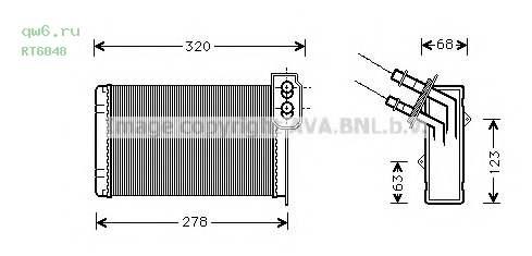 Радиатор печки  RT6048 AVA