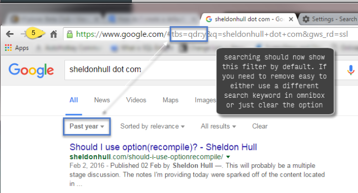 Results of search are now automatically filtered
