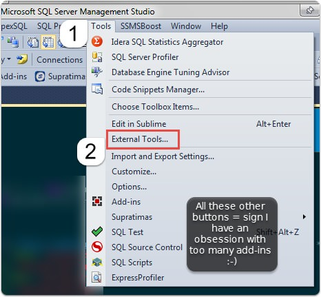 Split personality text editing in SSMS with Sublime Text 3
