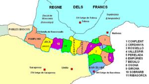 Sabies que...? El Comtat d'Empúries formava part de la Marca Hispànica