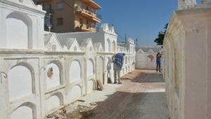 En marxa les obres del cementiri marí