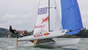 El catamarà grec de l'equip Red Bull Campió Europa F18