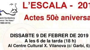 50è aniversari de l'Agrupació Sardanista Avi Xaxu