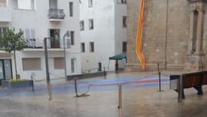 La pluja marca la Festa del Carme
