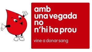 Dijous vinent nova donació de sang