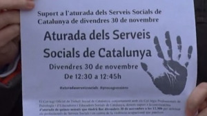 Protesta per les agressions a treballadors socials