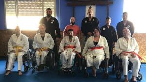 Els alumnes de jujitsu adaptat: de Sant Sebastià a Cadis