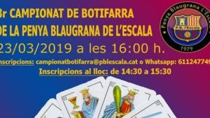 Nou campionat de botifarra Penya Blaugrana de l'Escala