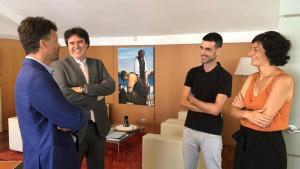 El Delegat del Govern a Girona visita l'Escala