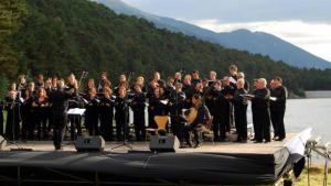Concert de la Coral Cantiga a l'Àgora Grega