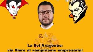 La CUP, contra la llei Aragonès