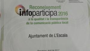 La web municipal rep un premi a la millora de la qualitat i la transparència