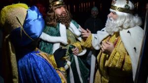 Gran rebuda als Reis d'Orient a l'Escala