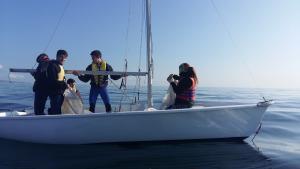 Primer mes del programa InserVela al Club Nàutic l'Escala