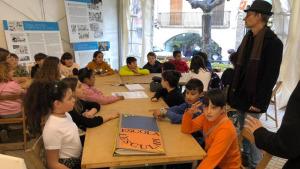 Les escoles protagonistes del primer dia de Vila del Llibre de Catalunya