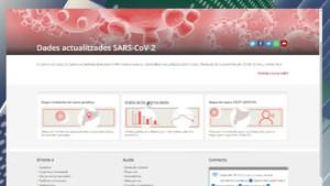 La Generalitat habilita una plana web amb totes les dades del COVID 19